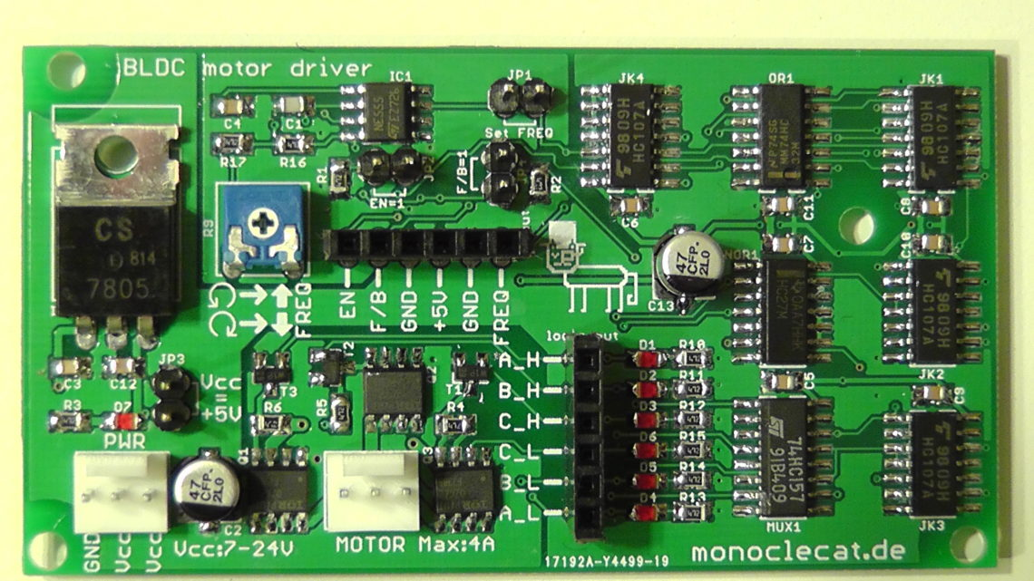 The all-in-one Brushless DC Motor driver